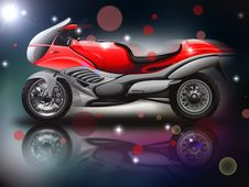 Free Red Motorcycle Stock Photo - 27496620