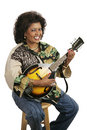 Free Woman Playing Mandolin Stock Photography - 2751302