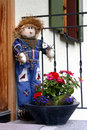 Free Cute Scarecrow Outside A House Royalty Free Stock Photos - 2751858