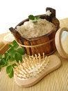Free Washtub With Bath Salt Royalty Free Stock Photo - 2753915