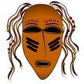Free Ancient Tribal Face Mask Stock Photography - 2759922