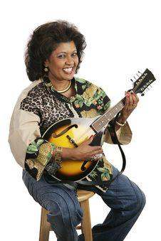 Free Woman Playing Mandolin Stock Photography - 2751302