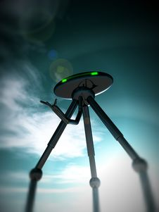 Free Alien Tripod And Sky 4 Royalty Free Stock Images - 2751309