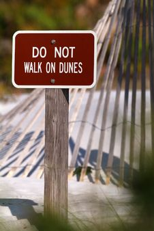 Free Sand Dune Warning Stock Photography - 2751922