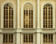 Windows Of The Church Royalty Free Stock Image