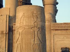 Temple At Edfu Egypt Royalty Free Stock Images