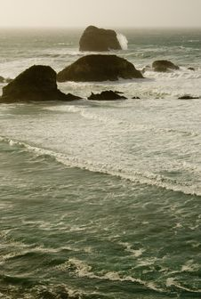 Large Waves At Big Sur Royalty Free Stock Photography