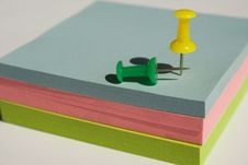 Pad Of Sticky Notes Royalty Free Stock Photo