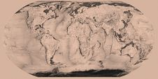 Free Sepia World Map Royalty Free Stock Photos - 2759648