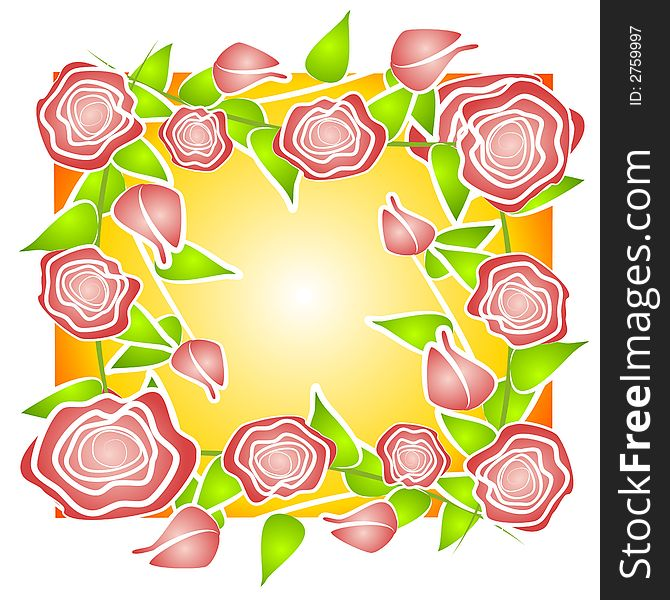 Pink Roses Background Pattern