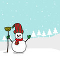 Free Cartoon Snowman Hand Drawn Royalty Free Stock Images - 27503579