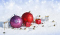 Free Christmas Decorations In The Snow Stock Images - 27508534