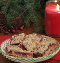 Free Holiday Cranberry Bars Stock Photos - 27509143