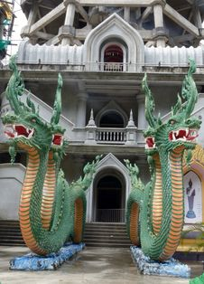 Free Naga,Wat Tum Sur.Krabi Thailand Stock Image - 27500431