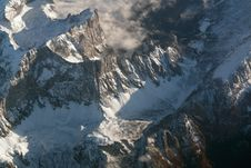 Free Alps From Above Royalty Free Stock Images - 27500779