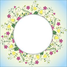Free Delicate Flower Border Royalty Free Stock Photography - 27501227