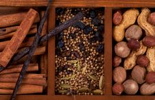 Free Spices And Nuts Royalty Free Stock Photography - 27503197