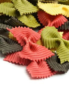 Free Three Color Farfalle Royalty Free Stock Photo - 27503325