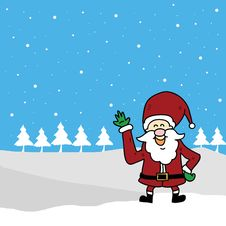 Free Funny Santa Claus Cartoon Hand Drawn Stock Photos - 27503463