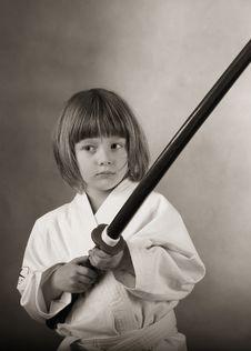 Free Karate Girl In Kimono, Royalty Free Stock Photo - 27506115