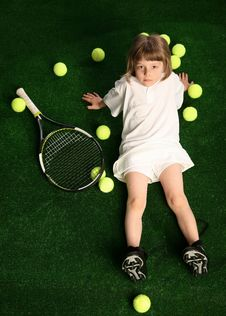Free Tennis Girl Stock Photos - 27506223