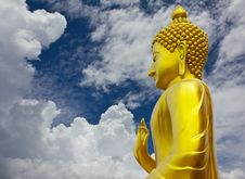 Free Golden Buddha In Sky And Cloudy. Stock Images - 27509964
