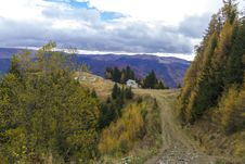 Free Autumn In Mountain Road Royalty Free Stock Photo - 27511965