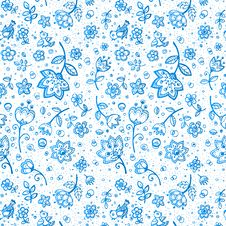 Free Hand-drawing Flower Pattern Royalty Free Stock Photography - 27513377