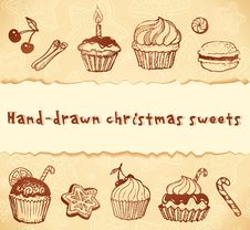 Free Isolated Bakery Hand-drawn Illustrations Set Stock Photo - 27513420