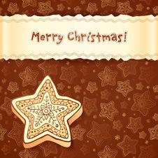 Free Christmas Chocolate Honey-cakes Greetings Card Stock Photos - 27513523