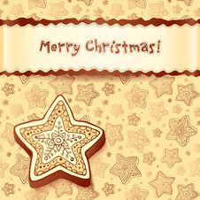 Free Christmas Chocolate Honey-cakes Greetings Card Stock Photo - 27513530