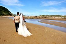 Free Grooms Couple On The Beach Stock Photo - 27513720
