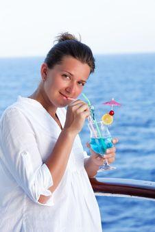 Free Cute Brunette Girl Enjoys Traveling Stock Photography - 27515692