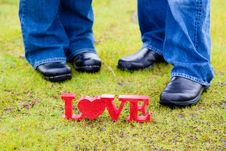 Free Love And Feet Royalty Free Stock Photo - 27516635