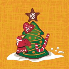 Free Christmas Gingerbread Background Royalty Free Stock Photo - 27516755
