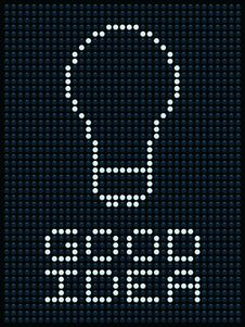 Free Good Idea On A Dot Matrix Display Royalty Free Stock Photos - 27517618