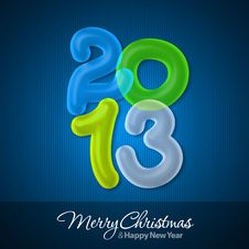 Free Merry Christmas And Happy New Year 2013 Royalty Free Stock Image - 27517636