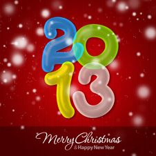 Merry Christmas And Happy New Year 2013 Stock Image