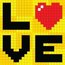 Free 8-bit Pixel Love Heart Royalty Free Stock Photos - 27518078