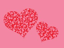 Free Valentines Day Background With Hearts Royalty Free Stock Photography - 27519307