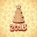 Free Christmas Tree Chocolate Honey-cakes Background Stock Images - 27520934