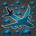 Free Jet Airliner In The Air With Clouds Stock Photo - 27524080