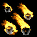 Free Soccer Ball In The Fire Royalty Free Stock Image - 27524116