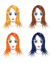Free Girls With Different Hair Colors Stock Photos - 27524543