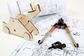 Free Building Plan And Equipment Stock Image - 27524701