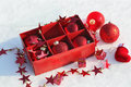 Free Christmas Decorations In The Snow Stock Image - 27529311