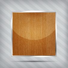 Wooden Pattern Icon Stock Image