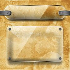 Transparency Plates On Ceramic Background Royalty Free Stock Photos