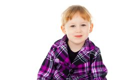 Free A Little Girl Sits, Have Fun Royalty Free Stock Photo - 27525385