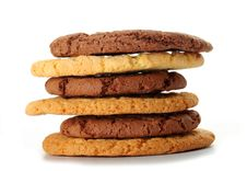 Free Oat Cookies And Chocolate Cookies Stock Image - 27527091